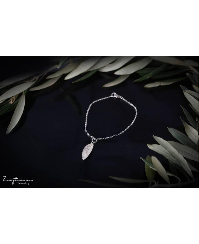 Single leaf Charm bracelet