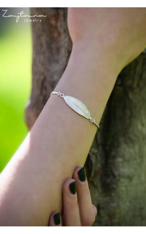 Plaque leave bracelet