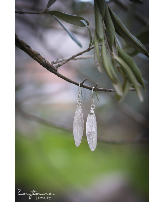 Natural Leaf Drop Earring