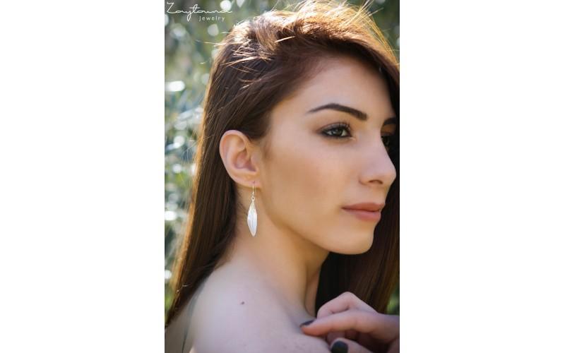 Twisted Leaf Drop Earring