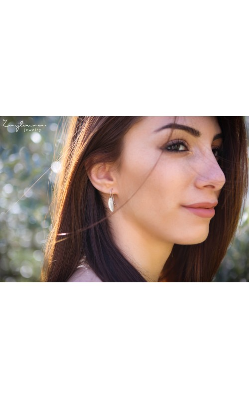 Natural Leaf Dangling Earring