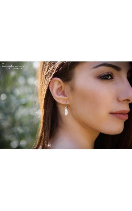 Hoop Wire Leaf Earring